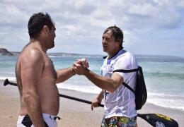 Nuno Trovão e Ricardo Leão atletas Stand Up Paddle terminam maratona de 15 Km